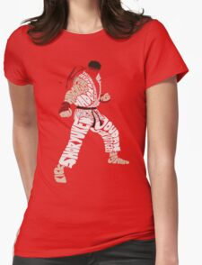 Ryu Typography Womens Fitted T-Shirt