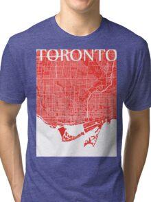 Toronto (Red) Tri-blend T-Shirt