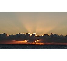 sunrise and clouds Photographic Print