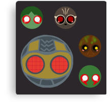 minimalistic chibi guardians:  the theif Canvas Print