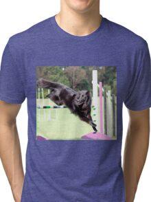 2015 agility jumping Groenendael  Tri-blend T-Shirt