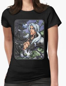 One Winged Fallen Angel  Womens Fitted T-Shirt