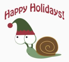 Happy Holidays! Snail One Piece - Short Sleeve