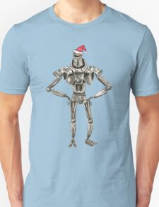 Christmas Cylon in a Santa Hat T-Shirt