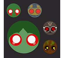 minimalistic chibi guardians:  the assassin  Photographic Print