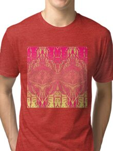 Vector Gradient-Red & Yellow Tri-blend T-Shirt
