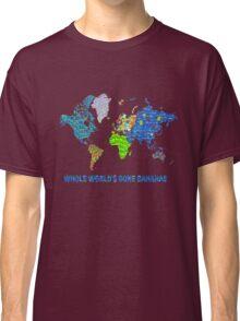 Whole World's Gone Bananas - World Map Sticker Art Classic T-Shirt