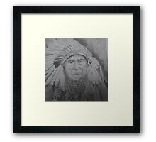 NATIVE AMERICAN CHIEF Framed Print