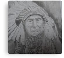NATIVE AMERICAN CHIEF Canvas Print