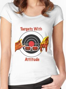 Targets With Attitude Women's Fitted Scoop T-Shirt