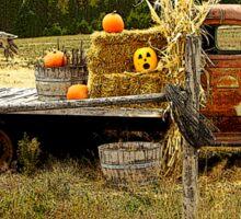 It's a Scarecrow Harvest.....! Sticker