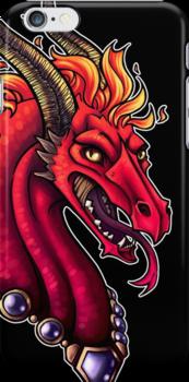 Fire Dragon Iphone Case by cybercat