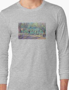 Grass Trees at Cunningham's  Gap Queensland Long Sleeve T-Shirt