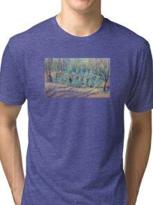 Grass Trees at Cunningham's  Gap Queensland Tri-blend T-Shirt