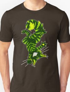 Green Funky Cat  T-Shirt