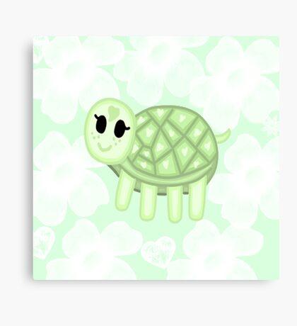 Flower  Turtle  Canvas Print