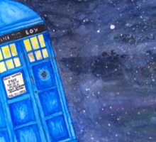 All of Time and Space - Doctor Who fan art Sticker