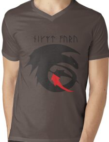 Strike Class Dragon Symbol How to Train Your Dragon HTTYD Mens V-Neck T-Shirt