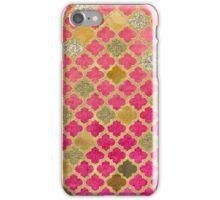 Faded red and bronze moroccan tiles iPhone Case/Skin