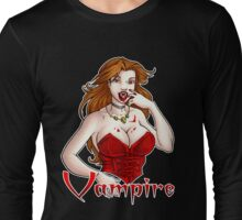 Vampire Chic White Long Sleeve T-Shirt