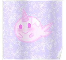 Kawaii unicorn fish Poster