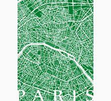 Paris Map (Green) T-Shirt