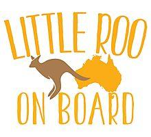 Little roo on Board (Australian pregnancy meternity design) Photographic Print