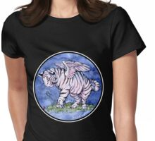 Winged Tiger Cub Shirt Womens Fitted T-Shirt