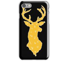 orange and white deer iPhone Case/Skin