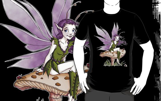 Purple Pixie and Ladybugs by cybercat