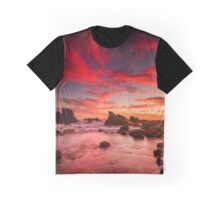 Sunrise at Forster-Tuncurry at Burgess Beach Graphic T-Shirt
