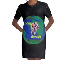Cycling the World Graphic T-Shirt Dress