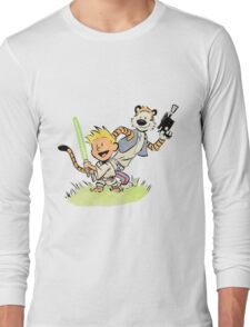 Calvin and Hobbes Star Wars Long Sleeve T-Shirt
