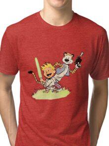 Calvin and Hobbes Star Wars Tri-blend T-Shirt