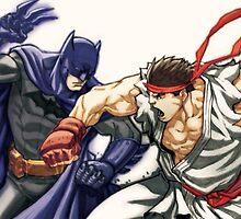 Dark Knight vs Street Fighter by jayrokk