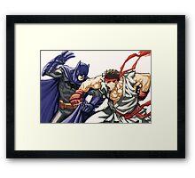 Dark Knight vs Street Fighter Framed Print