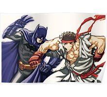 Dark Knight vs Street Fighter Poster