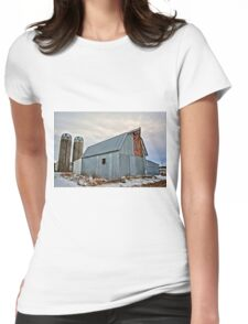 Retired Cattle Barn Womens Fitted T-Shirt