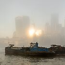 Barges on the River Thames, London by Cliff Williams