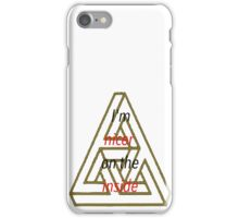 I'm nicer on the inside triangle quote iPhone Case/Skin