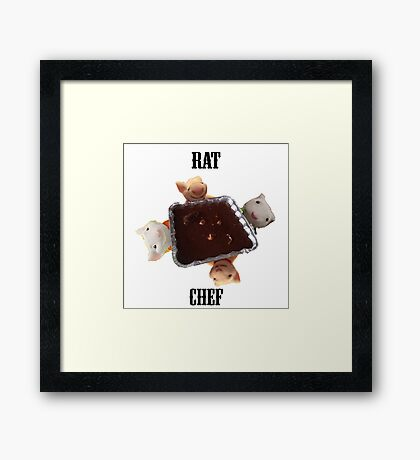Rat Chef T-Shirt Framed Print