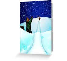 Sledding Holiday Card Greeting Card