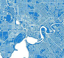 Perth (Blue) by CartoCreative