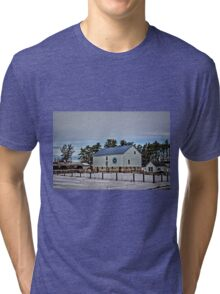 Quilted Mitchell Barn Tri-blend T-Shirt