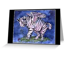 Winged Tiger Cub Greeting Card
