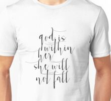 Psalm 46:5 Printable wall decor Nursery verse print decor scripture art Bible verses God is within her she will not fall Unisex T-Shirt