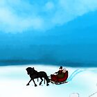 Winter Sleigh Ride Card by ChePanArt