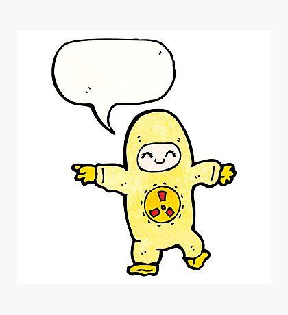 man in radiation suit cartoon Photographic Print