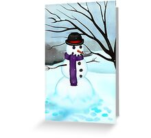 Snowman Holiday Card Greeting Card