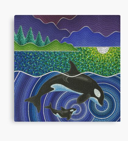 Orca Sonic Love Canvas Print